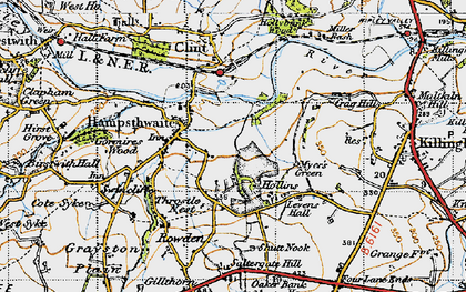Old map of Hampsthwaite in 1947