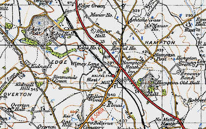 Old map of Ashtons-cross in 1947