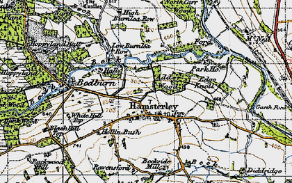 Old map of Linburn Beck in 1947
