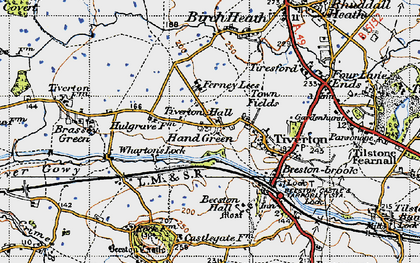 Old map of Wharton's Lock in 1947