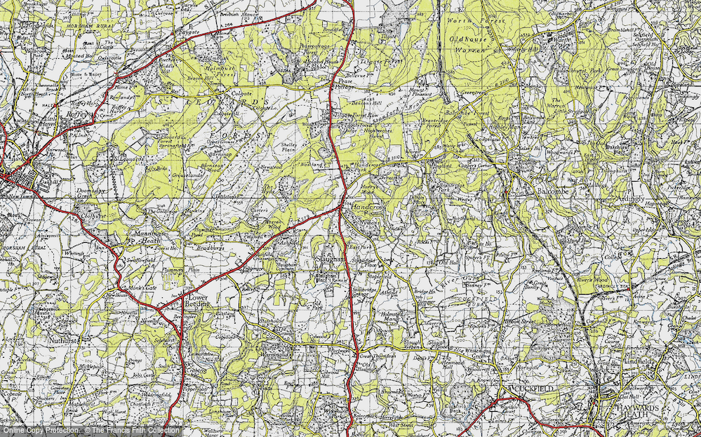 Old Map of Handcross, 1940 in 1940
