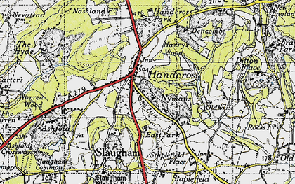 Old map of Handcross in 1940