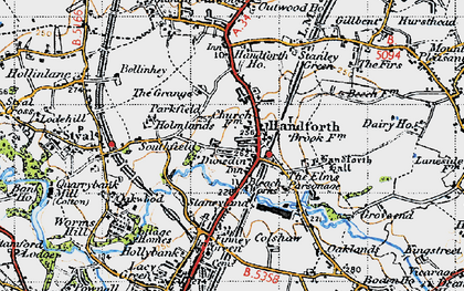 Old map of Handforth in 1947