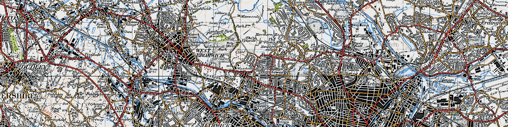 Old map of Handsworth in 1946