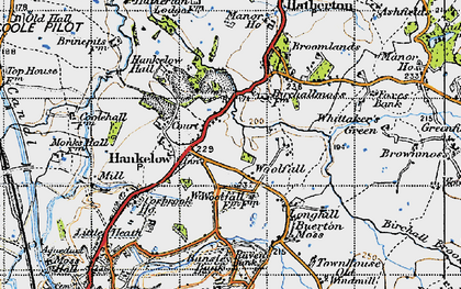 Old map of Woolfall in 1947