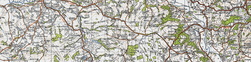 Old map of Woodbank Hill in 1947