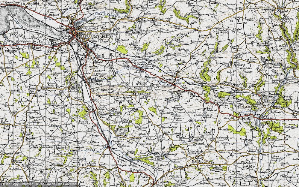 Old Map of Historic Map covering Bableigh in 1946