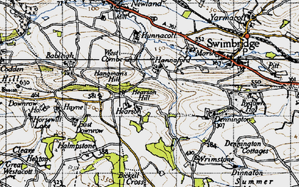 Old map of Bableigh in 1946