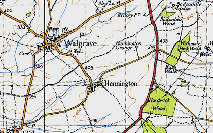 Old map of Badsaddle Wood in 1946