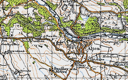 Old map of Alton Common in 1946