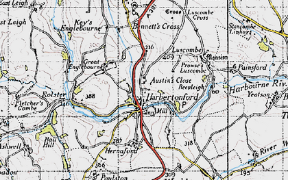 Old map of Woodcourt in 1946