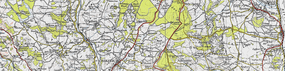 Old map of Whiteway Ho in 1946
