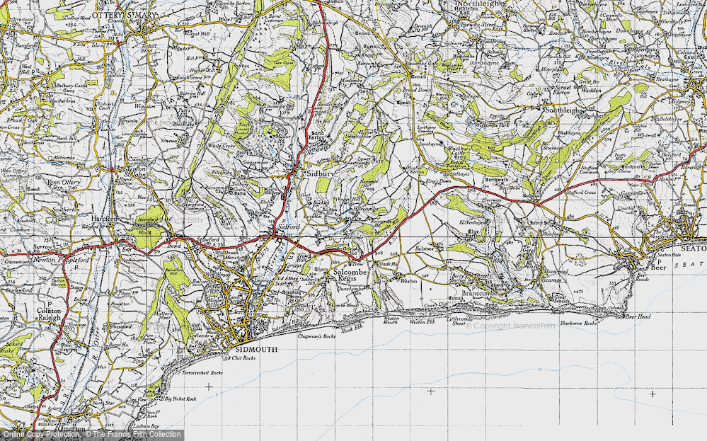 Old Map of Harcombe, 1946 in 1946