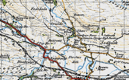 Old map of Hardraw in 1947