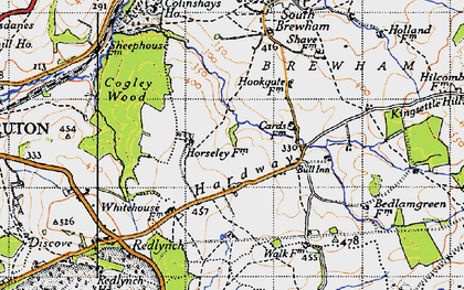 Old map of Leland Trail in 1946