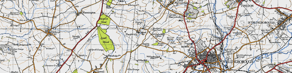 Old map of Appleby Gate in 1946