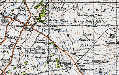 Old map of Windy Clough in 1947