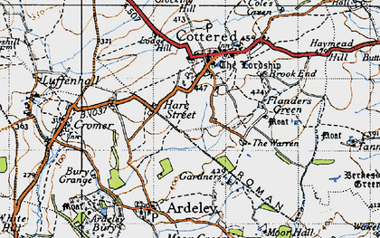 Old map of Hare Street in 1946