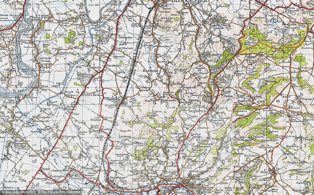 Old Map of Harescombe, 1946 in 1946