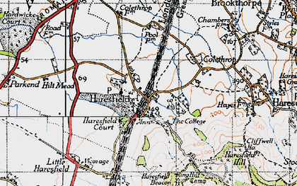 Old map of Haresfield in 1946