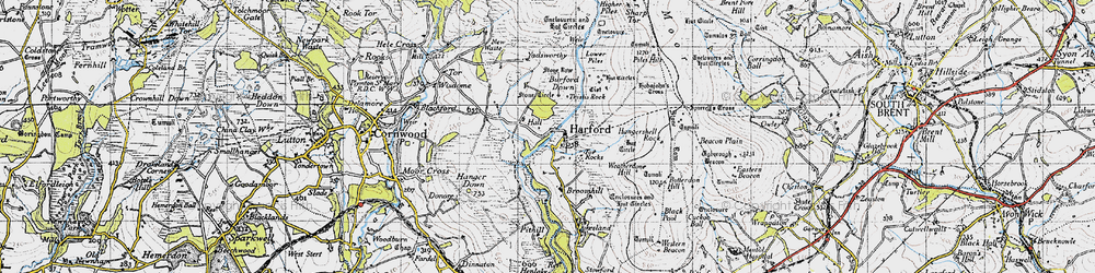 Old map of Harford in 1946