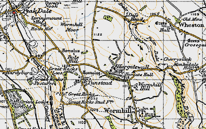 Old map of Wind Low in 1947