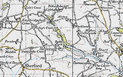 Old map of Alston in 1946