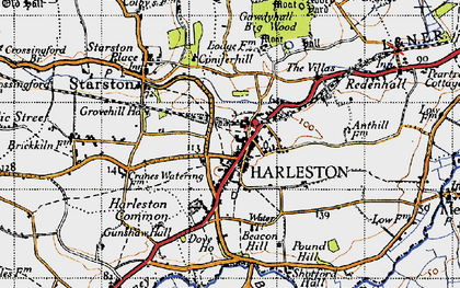 Old map of Anthills in 1946
