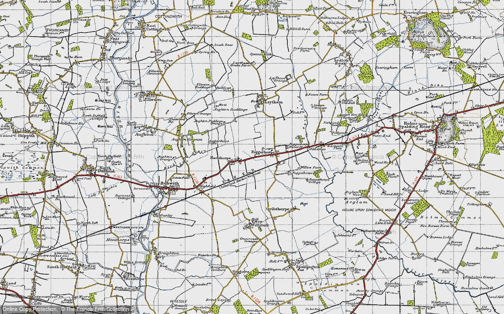Old Map of Harlthorpe, 1947 in 1947