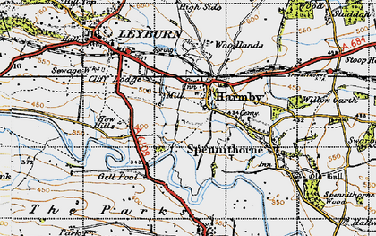 Old map of Harmby in 1947