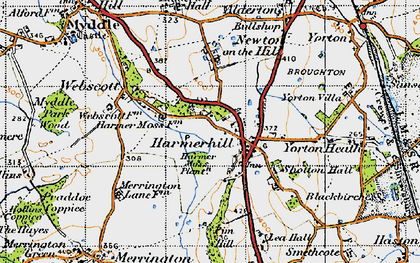 Old map of Lea Hall in 1947