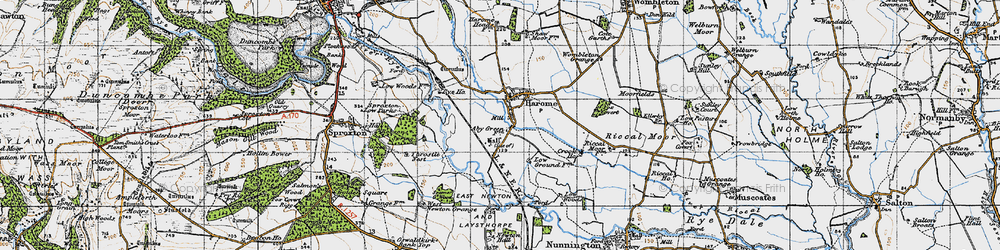 Old map of West Newton Grange in 1947