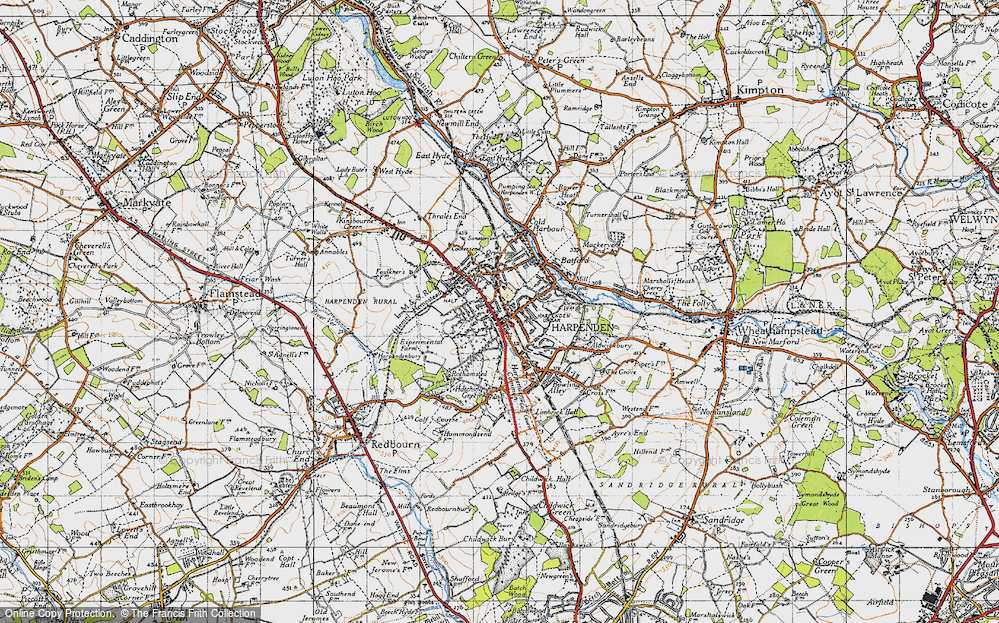 Old Map of Harpenden, 1946 in 1946