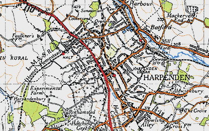Old map of Harpenden in 1946