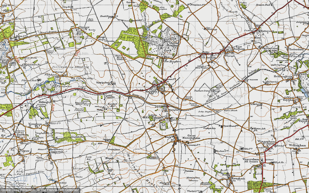 Old Map of Harpley, 1946 in 1946
