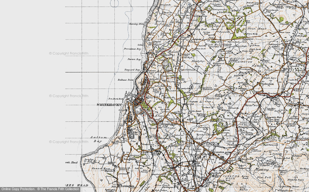 Old Map of Harras, 1947 in 1947