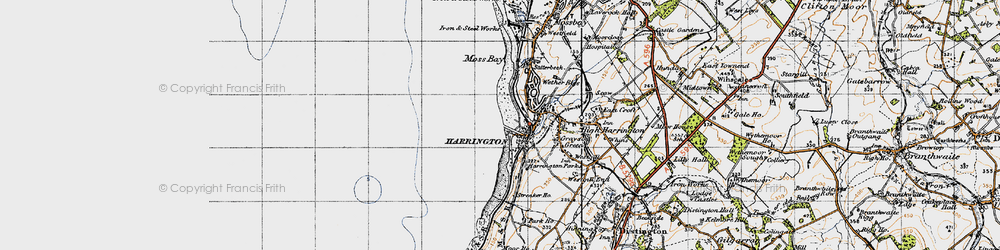Old map of Harrington in 1947