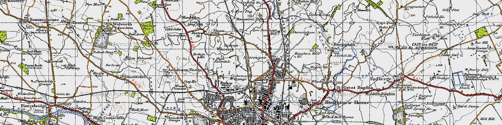 Old map of Whessoe Cott in 1947