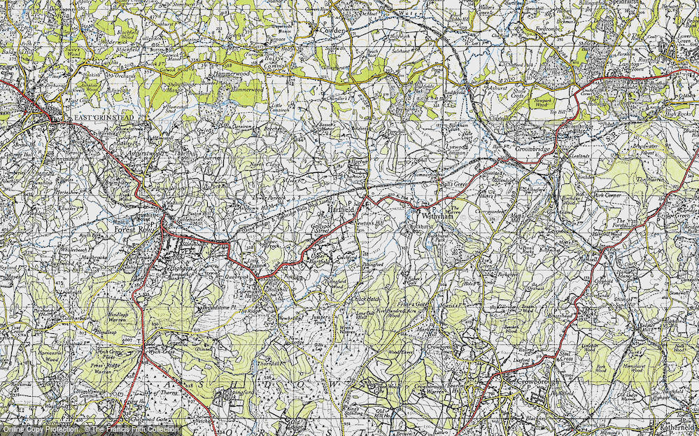 Old Map of Hartfield, 1946 in 1946