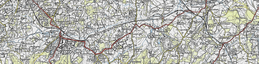Old map of Hartfield in 1946