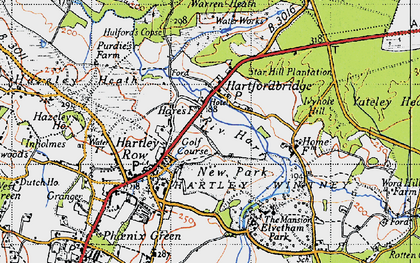 Old map of Elvetham Hall in 1940