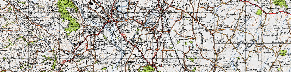 Old map of Hartlebury in 1947