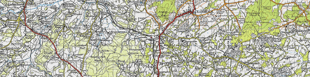 Old map of Hartley in 1940