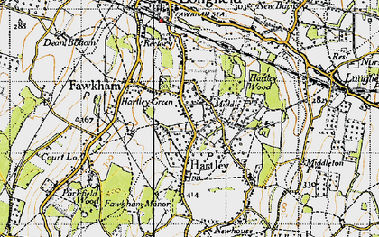 Old map of Hartley in 1946