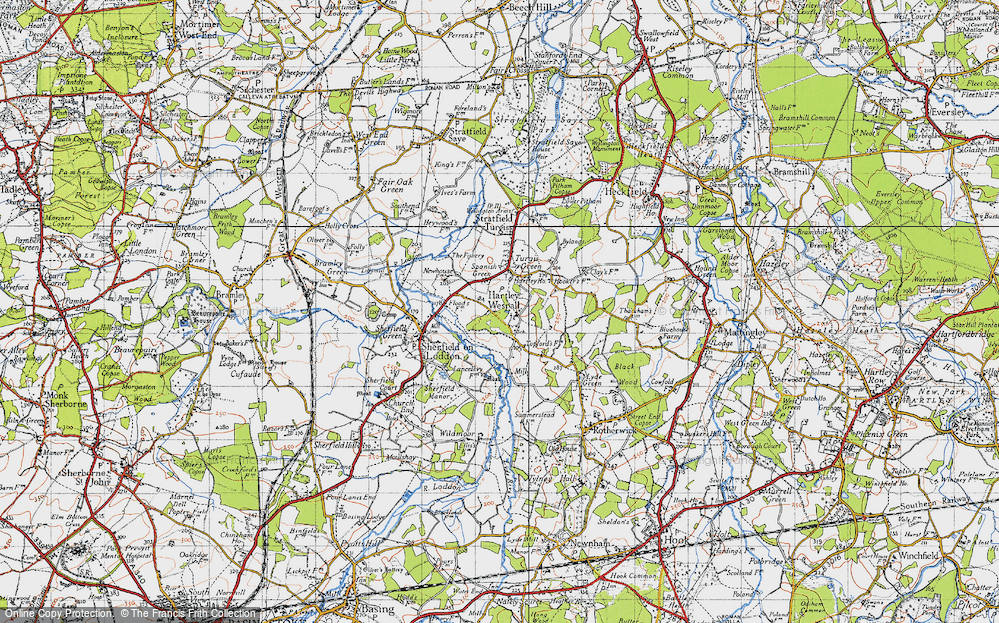Old Map of Hartley Wespall, 1940 in 1940