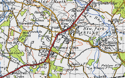 Old map of Winchfield Ho in 1940