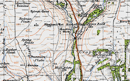 Old map of Abraham's Hut (Cairn) in 1947