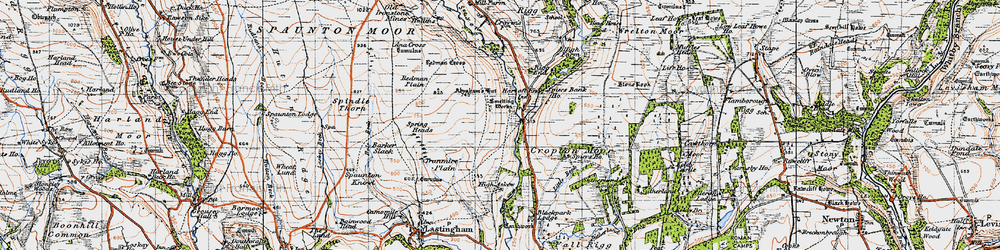 Old map of Abraham's Hut in 1947