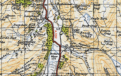 Old map of Lingy Crag in 1947