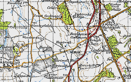 Old map of Woodeaves in 1946